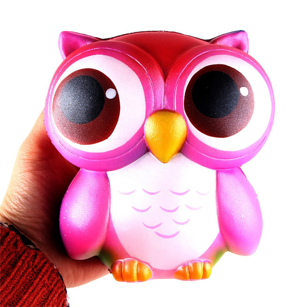 HIINST chancery toy 15cm Lovely Pink Owl Cream Scented Squishy Slow Rising Squeeze Toys Collection apr10HY