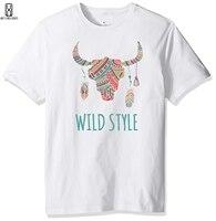 Bawełna Bohemian style plakat Koszulka Kreatywny proste mężczyźni T-shirt L