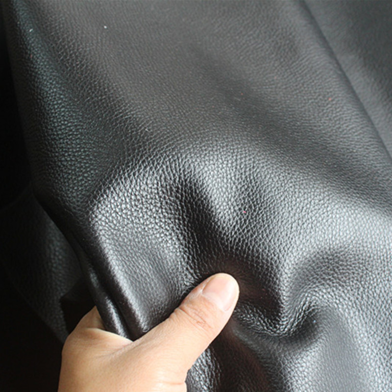 Черный кожаный с тиснением кожи ручной работы DIY кожаный бумажник кожа импортированы кожа лист материал дополнительно