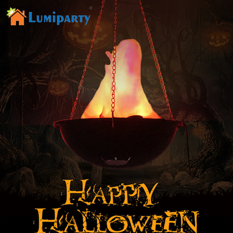 LumiParty Creative Funny LED Flame Lamp with Artificial Fake Fire Light for Halloween Party Decoration Night Light jk35 mipow btl300 creative led light bluetooth aromatherapy flameless candle voice control lamp holiday party decoration gift