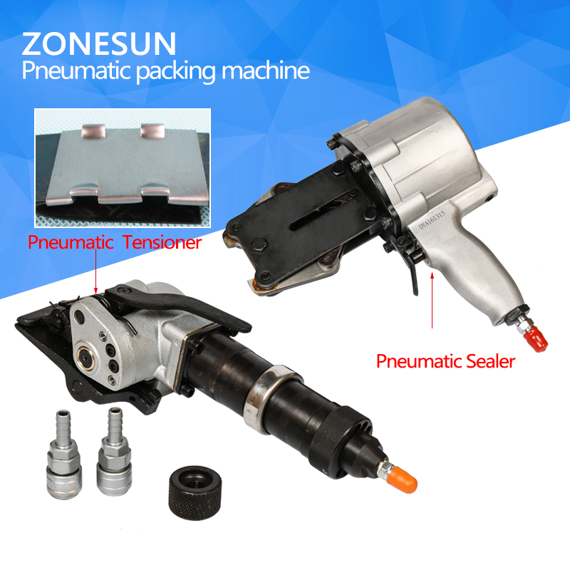 ZONESUN KZS-40/32 Penumatic Steel band packing Tools Separated Pneumatic steel strapping tool steel banding machine steel strapping tool handheld packaging equipment manual steel strapping tool