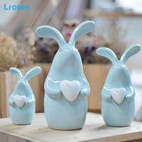 Rabbit Ornament Decoration Wine Cabinet Home Decoration Living Room TV Cabinet Creative Modern Bedroom Ceramic statues sculpture