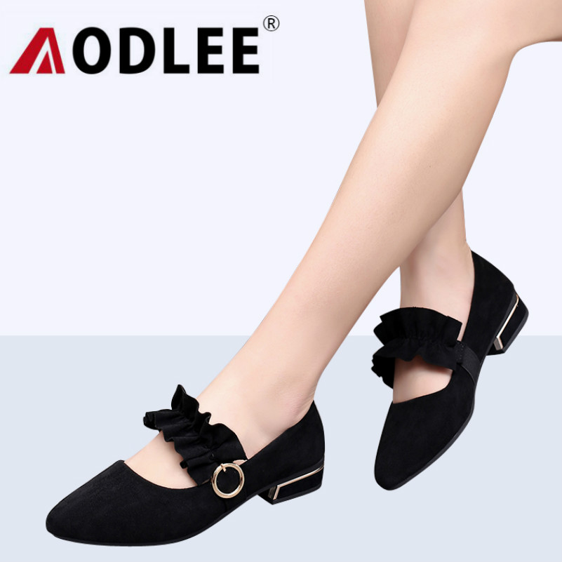 AODLEE Fashion Women Shoes Woman Flats Brand Luxury Suede Leather slip-on pointed toe Flat Shoes Women Sexy Shoes Ballet Flats odetina 2017 new designer lace up ballerina flats fashion women spring pointed toe shoes ladies cross straps soft flats non slip