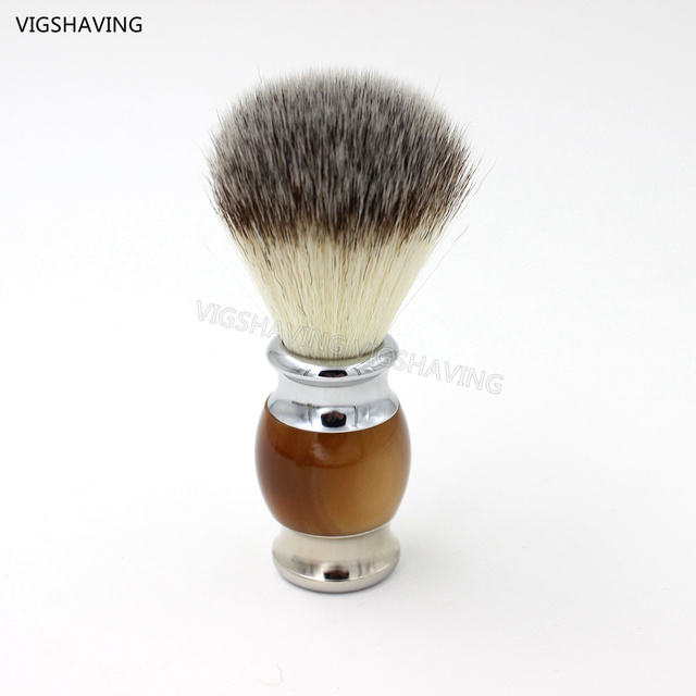 Metal handle Synthetic Hair Brush for Men Shaving&Hair removal Beard Brush
