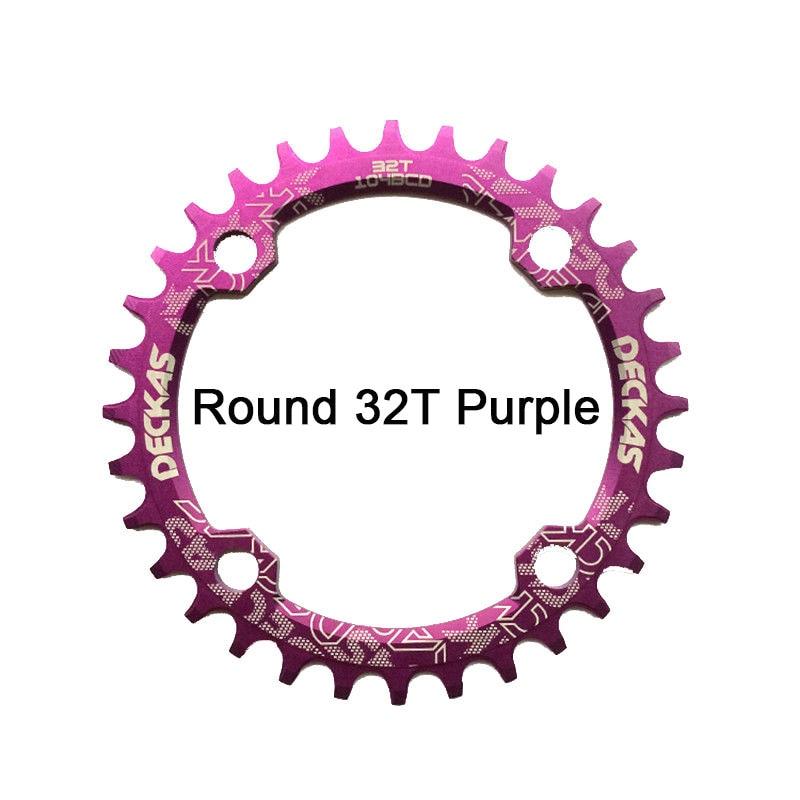 Bike Crank 104BCD Narrow Wide Crankset Single Plate MTB Chainring Bicycle Chainwheel Bike Circle Round Shape