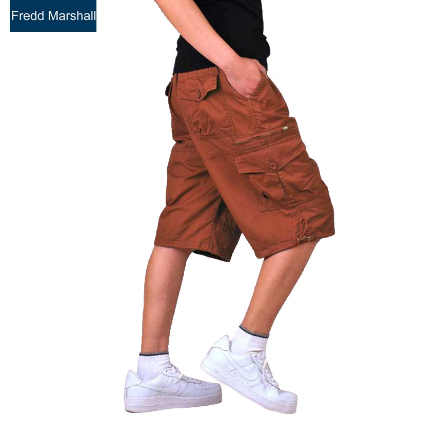 board baggy jeans shorts men summer military cargo shorts bermuda masculina jeans male cargo shorts Casual Knee Length brand 229
