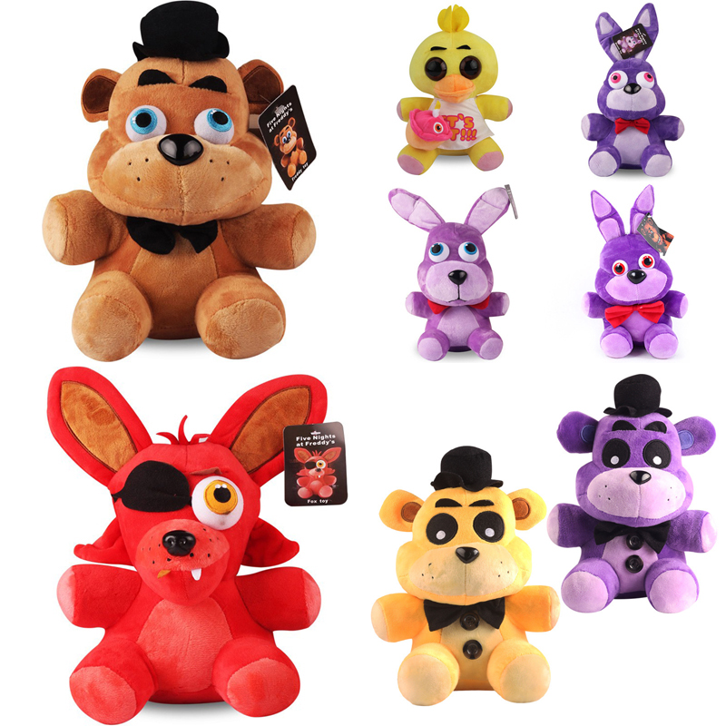 8 Styles 18cm FNAF Plush Toys Five Nights At Freddy's 4 Freddy Bear Chica Bonnie Foxy Plush Stuffed Toy Doll for Kids Xmas Gifts wholesale five nights at freddy s 4 fnaf freddy fazbear bear foxy plush toys doll kids birthday gift