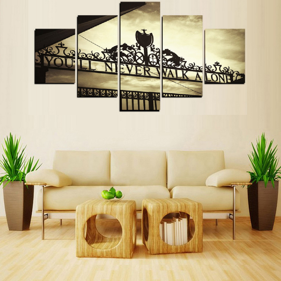 Frame Wall Art Poster Modern 5 Panel You Will Never Walk ...