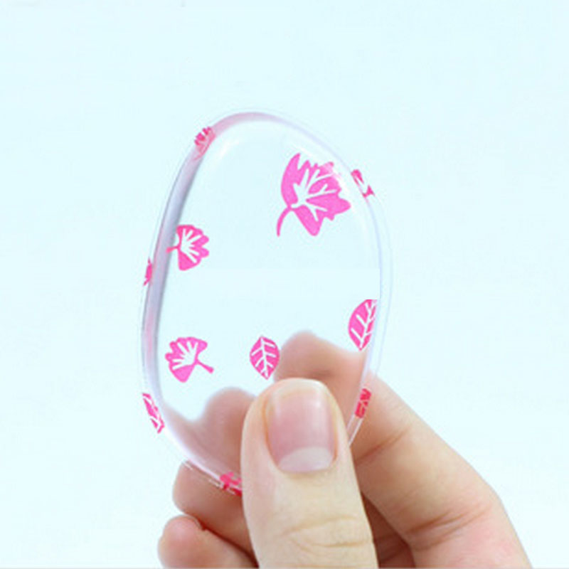 ФОТО 50PCS Leaf-Shaped Silicone Sponge Puff Blender Silica Cosmetic Makeup Puff For Liquid Foundation BB Cream Beauty Essentials