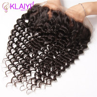 Klaiyi Lace Frontal Closure 13X4 Free Part Swiss Lace Indian Hair Ear To Ear Remy Human Hair Closure Free Shipping