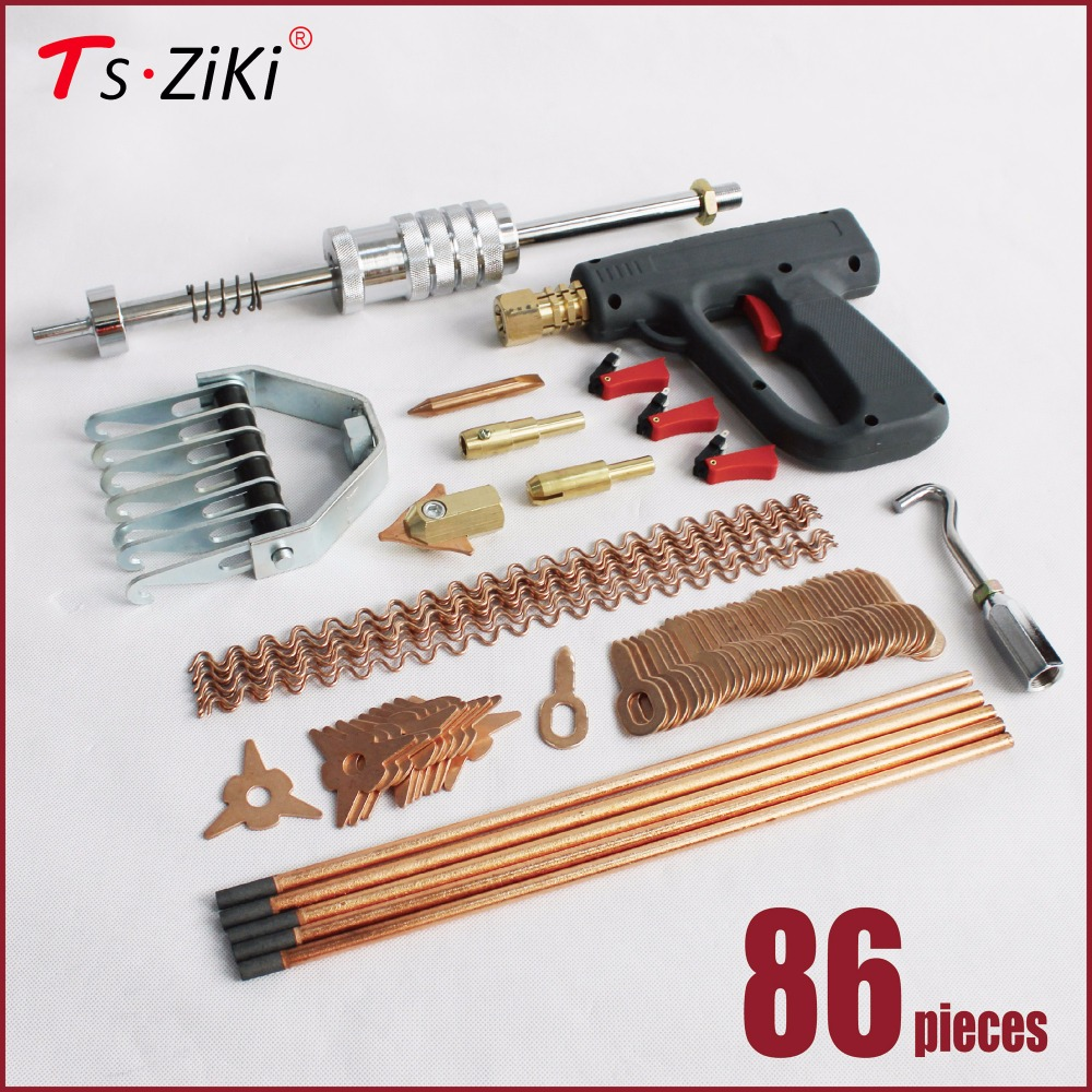 dent repair puller kit car tools hand body spot welder gun mini welding machine auto system spotter fix clamp hammer removal