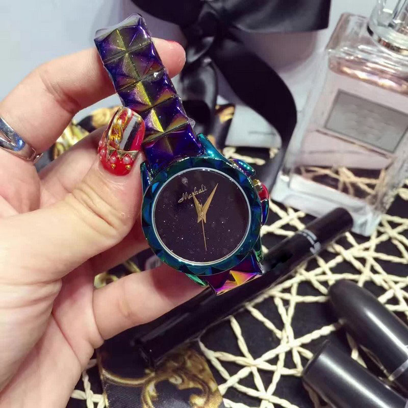 2016 New design women super flash bracelet Wrist watches Luxury brand stainless steel watch for women