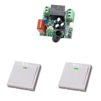 315 433Mhz Wireless Remote Light Switch 10A 1CH Relay Radio Switch 220V 1 Channel Mini Receiver
