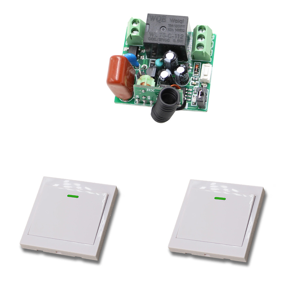 315/433Mhz Wireless Remote Light Switch 10A 1CH Relay Radio Switch 220V 1 Channel Mini Receiver Module + Transmitter