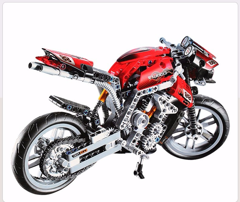 431pcs Motorcycle Building Blocks Compatible Technic <font><b>8051</b></font> Just like real Motorbike Model Bricks Kids Toys dropshipping image