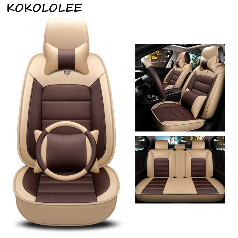 kokololee pu leather car seat cover For PEUGEOT 205 206 207 208 306 307 308 405 406 407 408 508 2008 car styling car accessories цена