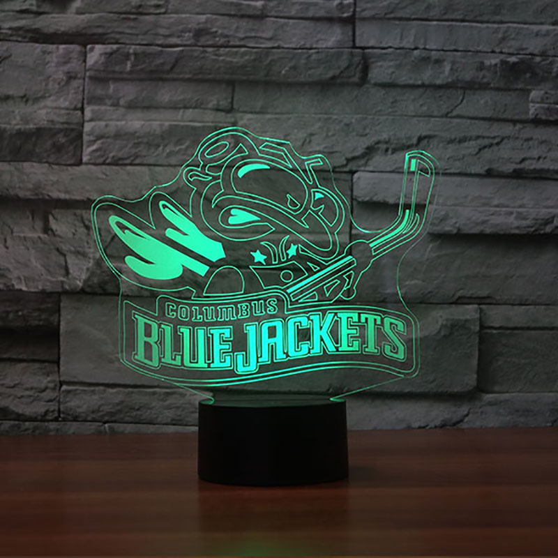 7 Colors Changing 3D Creative Ice Hockey Modelling Led NightLight For Kids Touch USB Table Lamp Baby Bedroom Sleep Light Fixture creative led 3d nightlight hockey for kid boy gift wall decoration holiday party hockey lighting iy303166 5