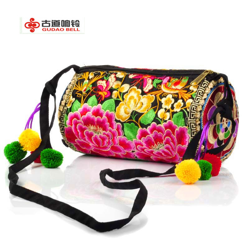 Features manual embroidered Bag fashionable woman embroidery Womans bags Shoulder Bags National package Support Drop shipping