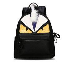 Mode feminine rucksäcke jugend reiserucksack frauen schultaschen für jugendliche mädchen Monster leder rucksack marke sac a dos
