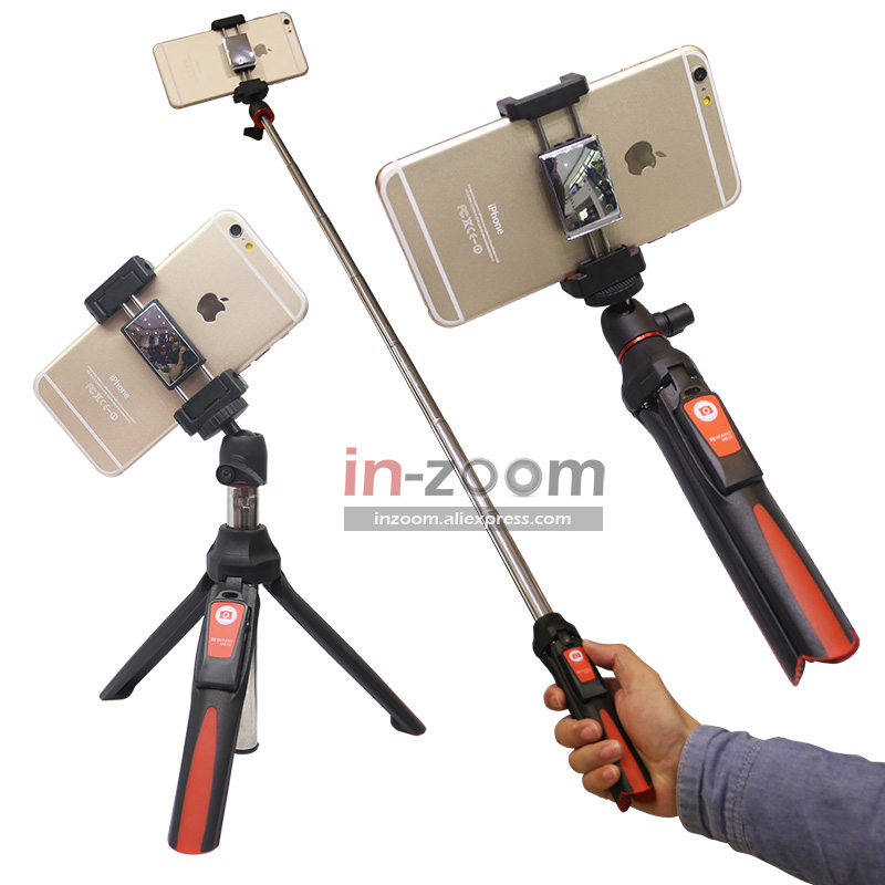 BENRO MK10 Handheld&mini Tripod 3in1 Self-portrait Monopod Phone Selfie Stick Bluetooth Remote Shutter for iPhone Sumsang Gopro sc1 carbon fiber smartphone tripod handheld mini phone action camera gopro selfie stick wireless bluetooth remote shutter