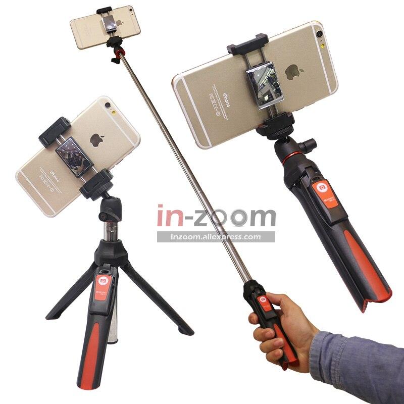 BENRO MK10 Handheld & mini Stativ 3in1 Selbstporträt Einbeinstativ Telefon Selfie Stick Bluetooth Fernauslöser für iPhone Sumsang Gopro