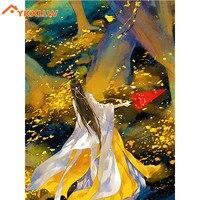 YKXLLW 5d diy diamond figure painting autumn abstract paint diamond painting Cross Stitch full square Rhinestone mosaic gift