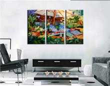 3 piece muti panel abstract handmade Artist canvas art Knife oil painting on canvas living room wall picture Kitchen decoration