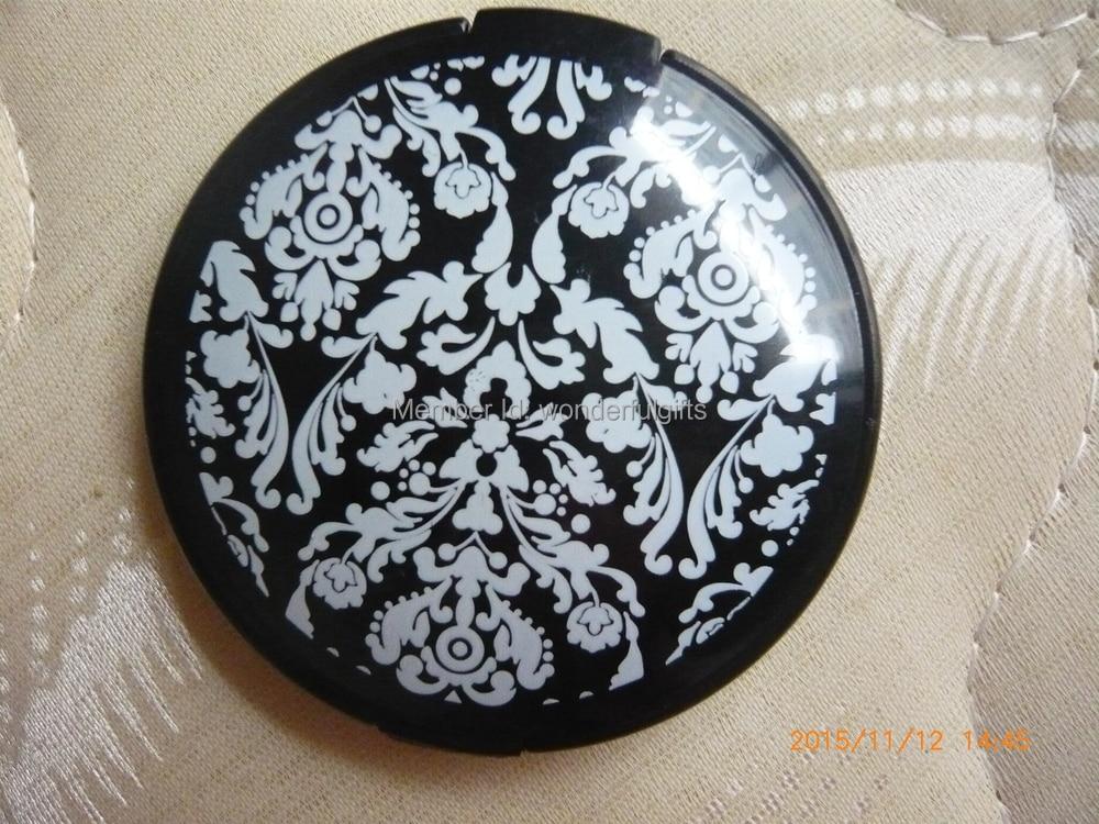 Livraison Gratuite Damask Élégant Noir Et Blanc Maquillage Miroir - Pour les vacances et les fêtes - Photo 2