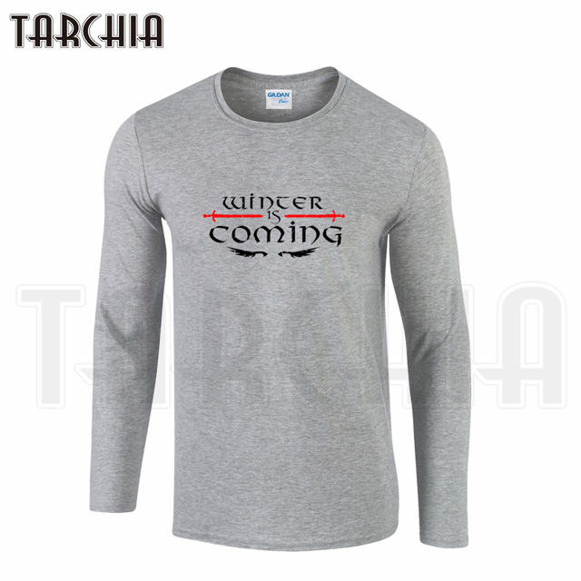Game Of Thrones Winter is Coming Cotton Casual Long Sleeves Men's T-shirt