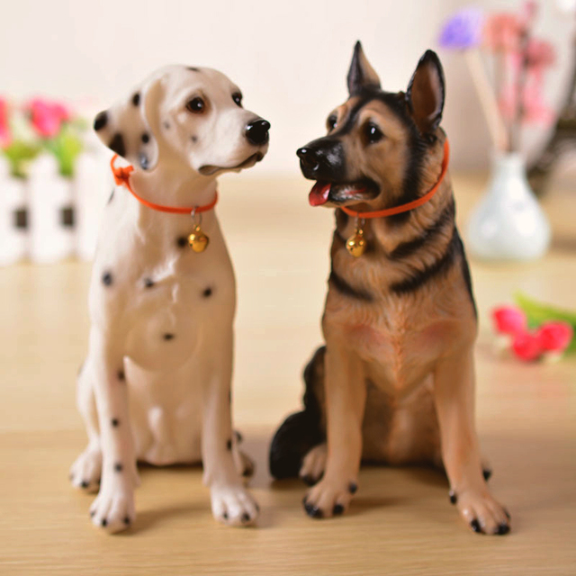 7.8in high Big resin Lucky dog model crafts creative birthday gift married Gift ornament home decoration dog accessories kid toy