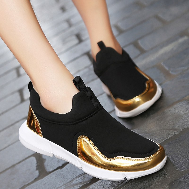 Ladies gold Chaussures Blue Or gray Casual Mode Femme Femmes Sneakers Plates Confortable Shanta PwqEUZx