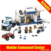 Lepin 02017 374Pcs City Policemen Series The Moving Command Car Educational Building Blocks Bricks Toys Model