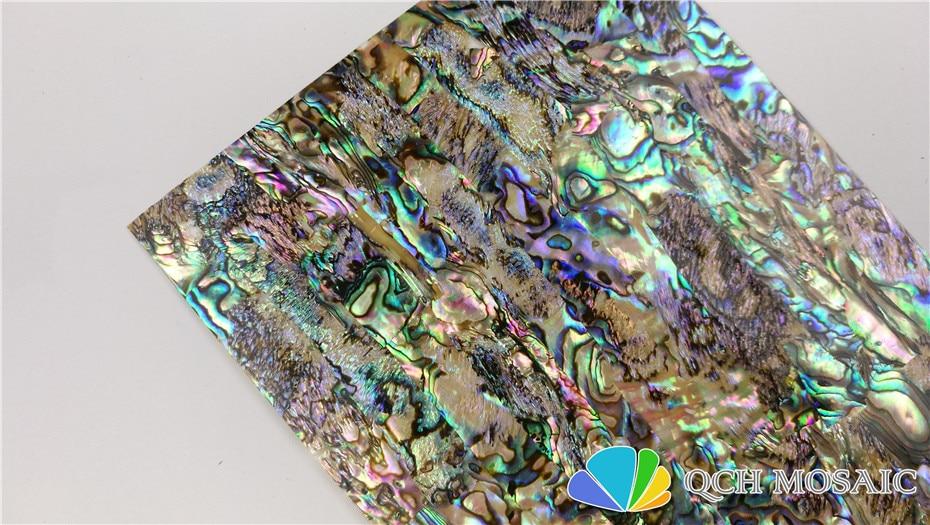 Купить с кэшбэком AA grade New Zealand paua abalone shell laminate sheet for musical instrument and wood inlay green color