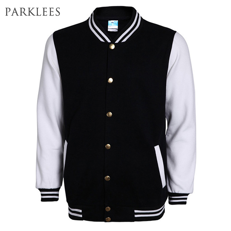 US $19 86 52% OFF New High School Baseball Jacket Men Veste Homme 2016  Autumn Mens Fashion Slim Cotton Varsity Jackets Casual Brand College  Jacket-in