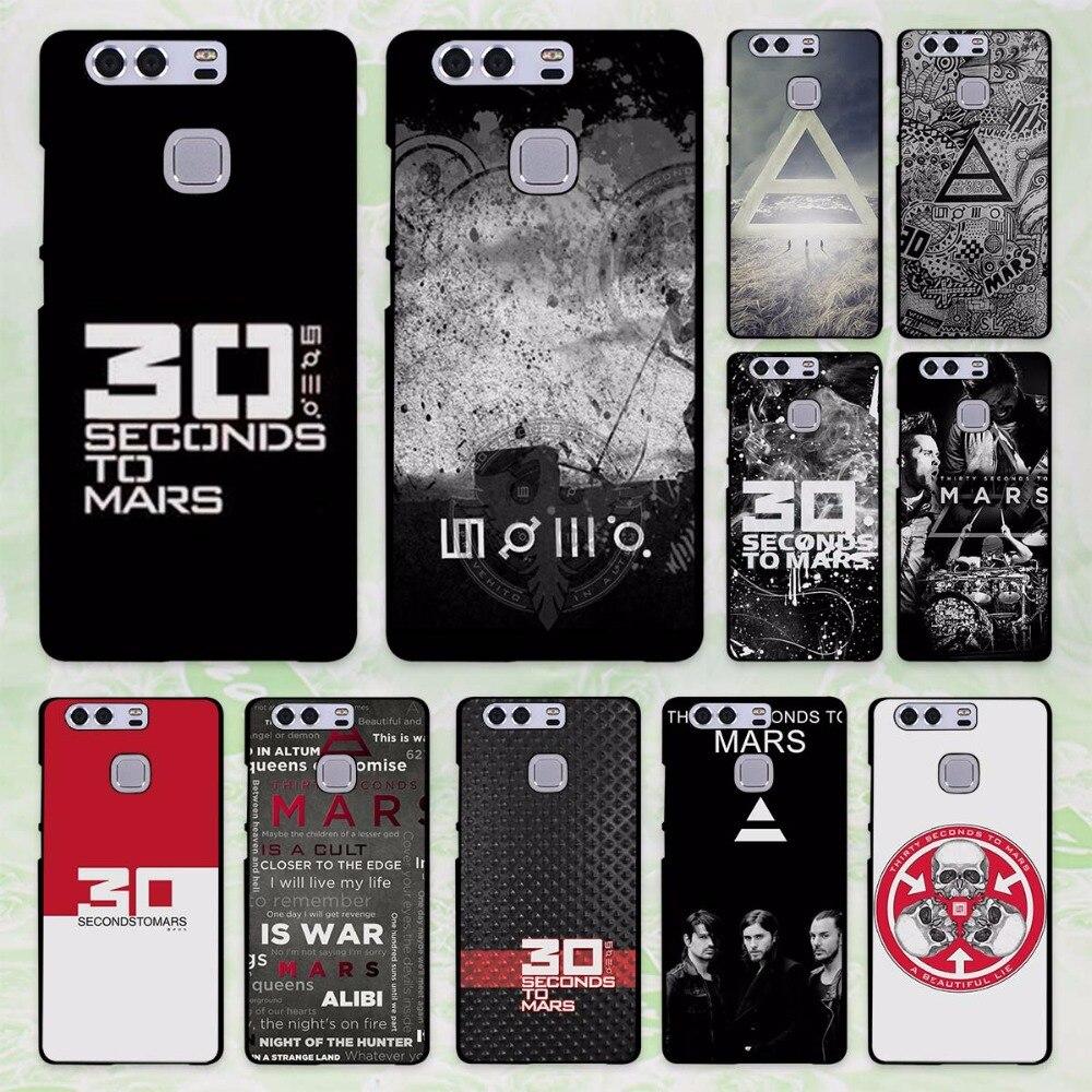 Горячая продажа 30 Seconds To Mars Дизайн Жесткий черный чехол для Huawei P8 P9 Lite p9 плюс p10 p10 lite P10 плюс P7 Коврики 9 Коврики 8 Коврики ...
