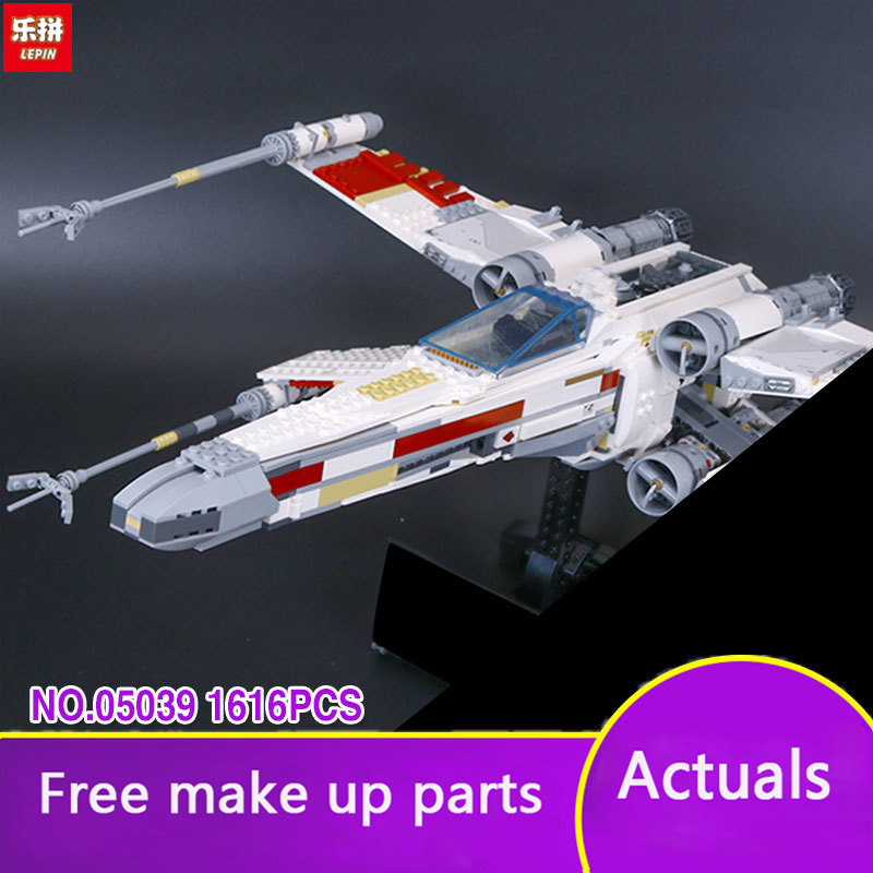 LEPIN 05039 Star series The red five X-starfighter Wing Model Building Blocks classic Compatible 10240 Toys for kids wars LP016 lepin 05039 star wars red five x wing starfighter figure blocks construction building bricks toys for children compatible legoe