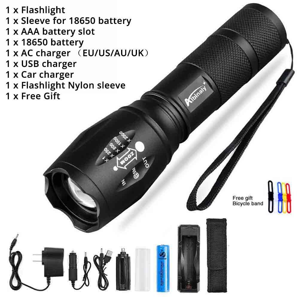 Lumineuse Lampe Torche Lumens Zoomable BatterieChargeur Poche Avec Cadeau Modes Perle 5 8000 18650 T6l2v6 Led Gratuit Ultra À De KJcl1F