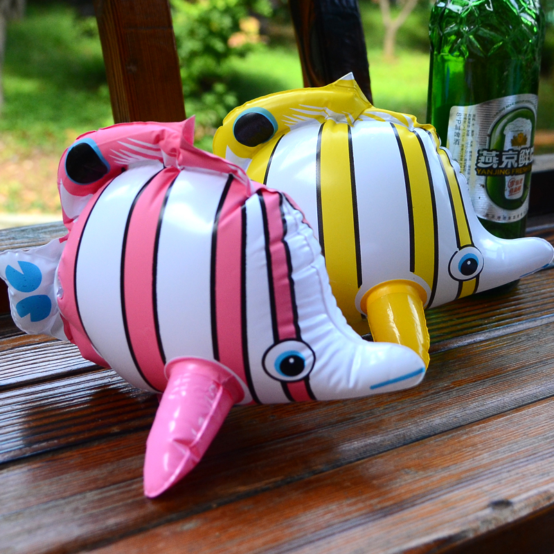 2pcs Seafood Inflatable Sea Animals Tropical Fish Adornment Animal Toys Bath Water Colorful Pvc The Kindergarten Toy Child Gift