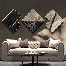 Modern living room sofa background wall painting hotel office mural combination atmospheric luxury abstract decorative painting free shipping retro wooden board basketball background wallpaper decorative painting kitchen office living room mural