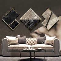 Moderne salon canapé fond mur peinture hôtel bureau mural combinaison atmosphérique luxe abstrait décoratif peinture