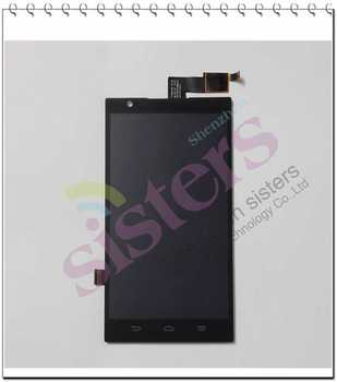 2Pcs New Bland Wholesale LCD Display Touch Screen Digitizer Full Assembly With Frame For ZTE Z-MAX Z970 Free shipping
