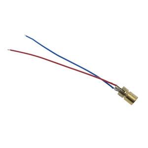 1 шт., мини-лазерная указка, диодо с красной точкой, 3 В/5 В, 5 мВт, 650 нм, Медная головка