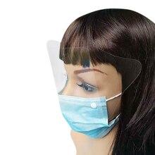 10 шт Стоматологическая одноразовая Анти-туман хирургическая маска для лица с щитом для глаз