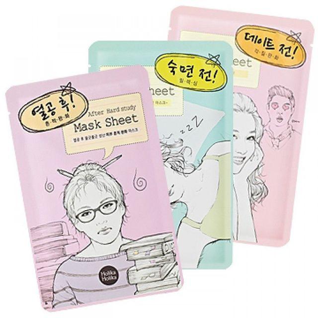 HOLIKA antes/después de máscara de cuidado de la piel de la cara hidratante de aceite de Control Blackhead removedor de cara Corea máscara cosmética 1 piezas