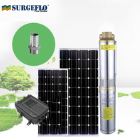 solar submersible pump with MPPT solar pump controller high speed solar pump set with permanent magnet synchronous motor