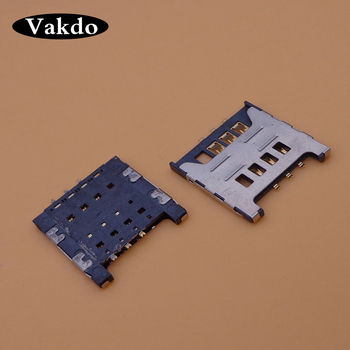 1pc New sim card reader holder for Samsung GT E1200M E1200 I519 I939D I939i tray slot socket connector image