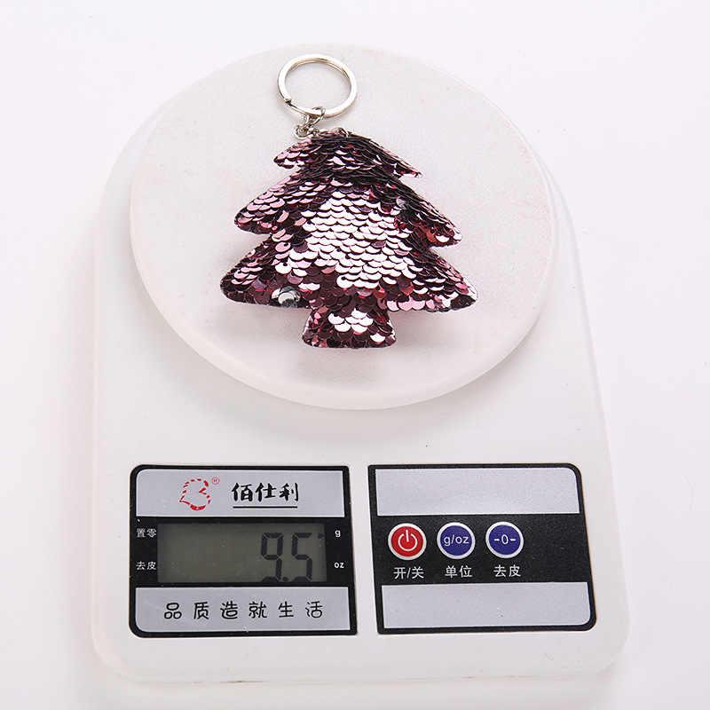 Новое поступление, брелок с блестками для рождественской елки для женщин, сумочка для девочек, брелок-кольцо для сумки, ювелирный подарок