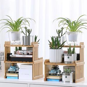 Image 3 - Étagère en bambou avec nouveauté plantes, présentoir de fleurs, présentoir de rangement