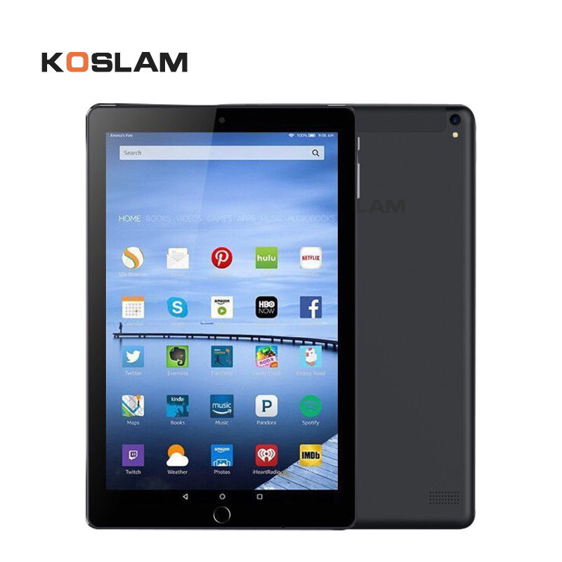 цена на KOSLAM 10 Inch 3G Android Tablet PC 10 IPS Screen Dual SIM Card Phone Call Phablet Quad Core 1G RAM 16GB ROM WIFI GPS Playstore