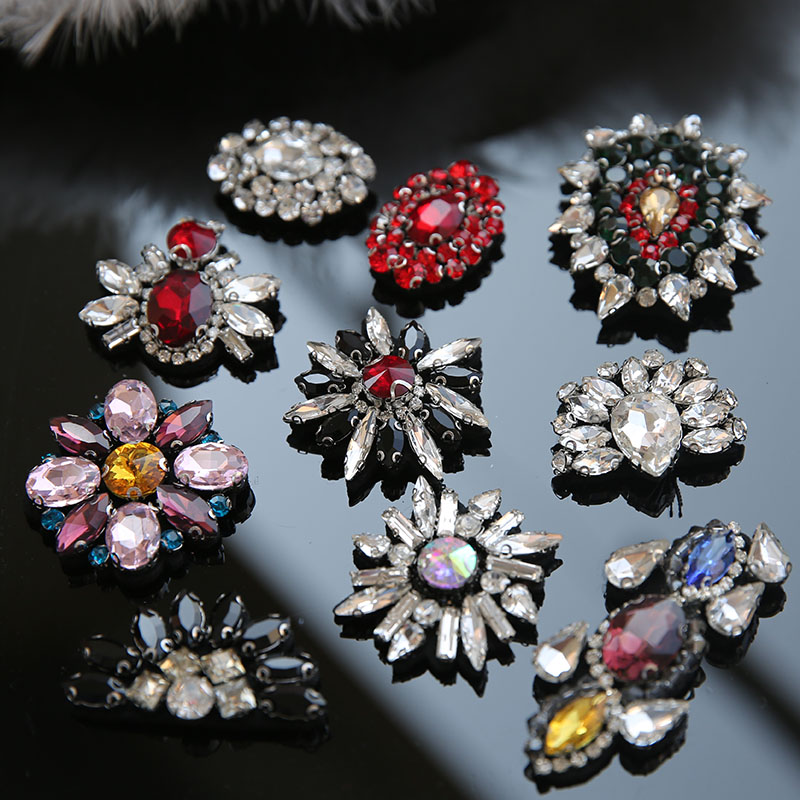 New Arrival Kinds Rhinestones beads patches applique sew on beading clothes shoes bags decoration patch DIY